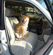 Vehicle Car Front Seat Protection Cover for Dog Pet. New. Extra Coverage. Khaki