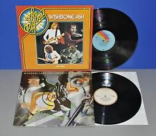2x Wishbone Ash No Smoke without Fire '78 + The Original '77 Vinyl LP cleaned
