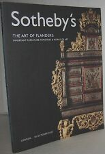 Sotheby's The Art Of Flanders, Furniture, Tapestries & Art London 30 Oct. 2002