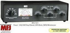 MFJ 923 - Dual Band Antenna Tuner, 144/440 MHz. 200 Watts with SWR & Watt Meter