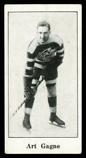 1923 V128 PAULIN'S HOCKEY CARD~#31~ART GAGNE~STANLEY CUP YEAR~HOF ROOKIE CARD