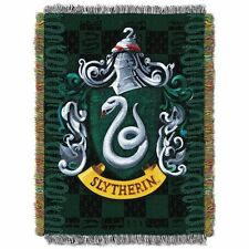 Harry Potter SLYTHERIN WOVEN TAPESTRY THROW Crest Blanket Wall Hanging MADE USA