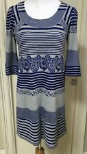 EVA FRANCO by Anthropology Cobalt And Gray Sweater Dress 4