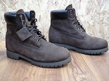 "TIMBERLAND Nubeck Classic 6"" Brown Leather Lace Up Mens Ankle Boots UK10.5"