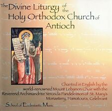 The Divine Liturgy of the Holy Orthodox Church Of Antioch (English)-CD -NEW