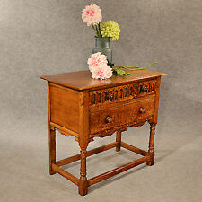 Antique Oak Chest of Drawers Side Table Quality Quarter Sawn English c1930