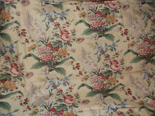 WAVERLY LUCINDA VINTAGE COLLECTION FABRIC/MATERIAL COTTAGE FLORAL ROSES 5+ YARDS