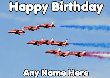 Fighter jets stunt planes Happy Birthday codefig  A5 Personalised Greeting Card