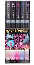Chameleon Color Tones Pen Set 5pc Floral Tones CT0512 Alcohol Markers NEW 2016