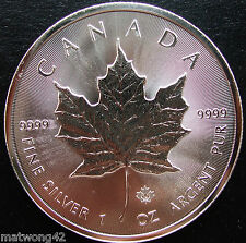 *MICRO ENGRAVED Canada $5 Silver Maple Leaf 1 oz fine .9999 coin RANDOM YEAR