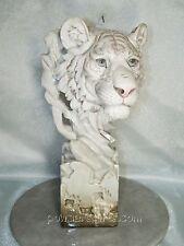 White Tiger Head Statue  020145
