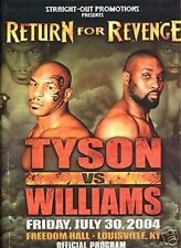 Mike Tyson Williams Program Trading Card Set WILD CARD