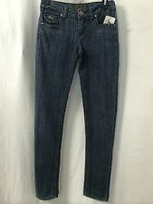 Free Culture Med Denim Jeans With Black Rhinestones Size 0 X 31