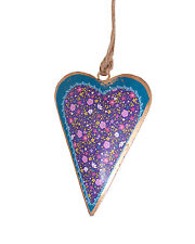 BNWT Namaste Floral Design Hanging Heart Christmas Decoration with Border!!