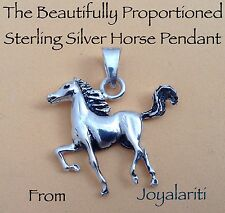 Taxco 925 Beautiful Proportioned Sterling Silver Horse Pendant For Horse Lovers
