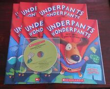 Underpants Wonderpants P. Bently New Scholastic Listening Center 6 Books with CD
