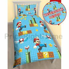 Nintendo Super Mario Maker Simple Rotary Housse De Couette Ensemble Literie Enfant Neuf