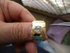 stunning new mens 9K gold ring with 0.91ct 100% natural diamond