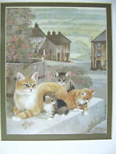 CATS KITTENS ART PRINT BY FAMED INTERNATIONAL ARTIST RUANE MANNING 8X10""