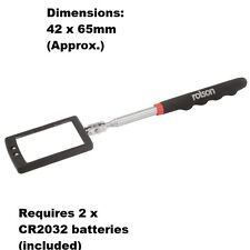 Rolson 2 LED Telescopic Inspection Mirror -  2 x CR2032 batteries (included)