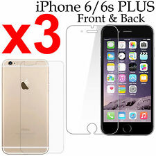 x3 Anti-scratch 4H PET film screen protector Apple iphone 6 6s PLUS front + back