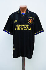 MANCHESTER UNITED 1993/1994/1995 AWAY FOOTBALL SHIRT JERSEY UMBRO CANTONA ERA