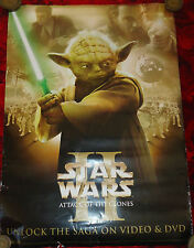 """Star Wars #110 Maxi poster, HUGE, Attack of the Clones, Yoda, 28""""x20"""""""