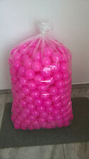 500 BRAND NEW SOFT PLAY BALLS -BALL PIT, POOL , COMMERCIAL GRADE CE - PINK