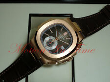 Patek Philippe 5980R-001 Nautilus Chronograph 18kt Rose Gold Black/Brown Dial
