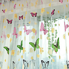 Room Divider Butterfly Sheer Curtain Panel Window Balcony Tulle New 1 PCS