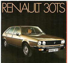 Renault 30 TS 1975-76 UK Market Sales Brochure