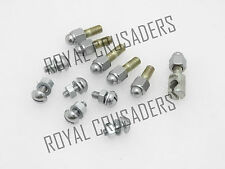 NEW ROYAL ENFIELD FRONT MUDGUARD CHROME DOME NUT & BOLT COMPLETE SET (CODE 1481)