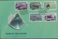 GB - ISLE of MAN 1998 Year of the Ocean/Marine Life SG 798/802 FDC SHARKS FISH