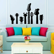 Wall Decals Guitar Necks Decal Fingerboard  Vinyl Sticker Boy Teen Bedroom Decor