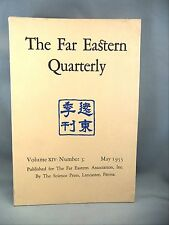 The Far Eastern Quarterly Review of Eastern Asia Pacific Islands1955 Report Book