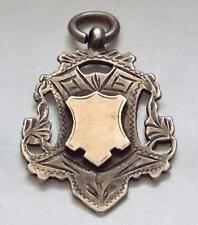 Antique Vintage 1911 Sterling Silver & Gold Fob Medal