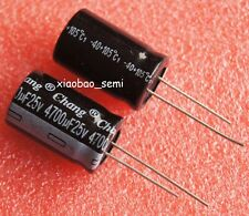 10PCS 4700uF 25V Electrolytic Capacitor 105°C 16x25mm