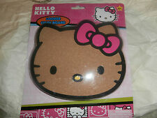 "Hello Kitty Locker Refrigerator Magnetic Cork Board 6.3"" x 7.25"" New Kitty Head"