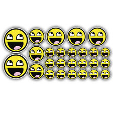 26 x smiley meme face stickers JDM EURO DUB VW