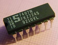 20x 7407n, Hex buffers/drivers Open-Collector high-voltage, Signetics