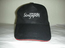 Fantastic Souvenir Black UNIQUELY SINGAPORE Sports Ball Cap Hat Cotton Blend