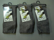 NWT Women's Hue Comfort Top Marled Socks One Size 3 Pair Espresso #681E