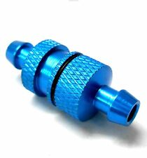 L11511 1/5 Scale RC Nitro Engine Small Inline Alloy Oil Fuel Filter Light Blue