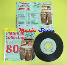 CD PLATINUM COLLECTION ANNI 80 1 compilation 1999 PUPO FOGLI (C1*) no lp mc dvd