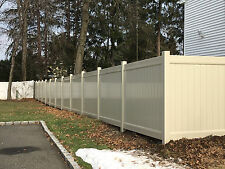 104' 6' x 8' Solid Privacy Vinyl Fence Beige Tan with Post & Caps