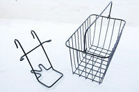 OXFORD BIKE FRONT WIRE BASKET AND HANGER / HOLDER DETACHABLE SHOPPER TOWN BIKE