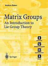 Matrix Groups : An Introduction to Lie Group Theory by Andrew Baker (2003,...
