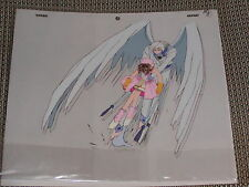 Cardcaptor Sakura Production Anime Cel- Yue (Yukito) & Sakura in action + Sketch