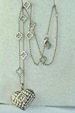 VTG HEIDI KLUM STERLING SILVER HEART LOCKET NECKLACE