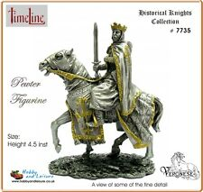 Veronese Pewter Medieval King on Horseback 4.25ins Myths and Legends # 7735 BNIB